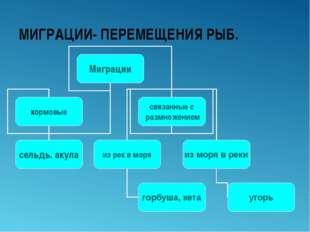 МИГРАЦИИ- ПЕРЕМЕЩЕНИЯ РЫБ.