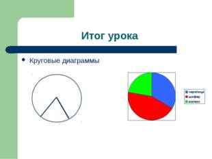 Итог урока Круговые диаграммы