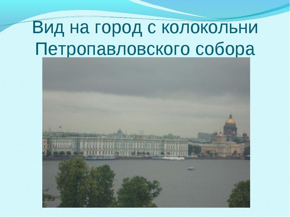 Вид на город с колокольни Петропавловского собора