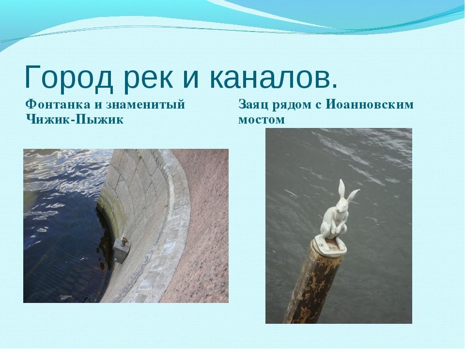 Город рек и каналов. Фонтанка и знаменитый Чижик-Пыжик Заяц рядом с Иоанновск...