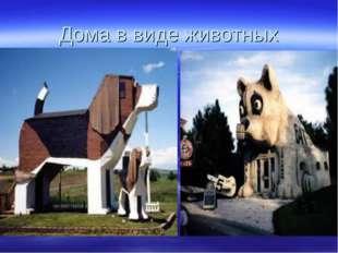 Дома в виде животных
