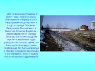 Место впадения Ушайки в реку Томь. Именно здесь приставали к берегу в 1604