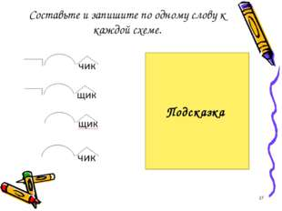 Составьте и запишите по одному слову к каждой схеме. перебежчик выдумщик каме
