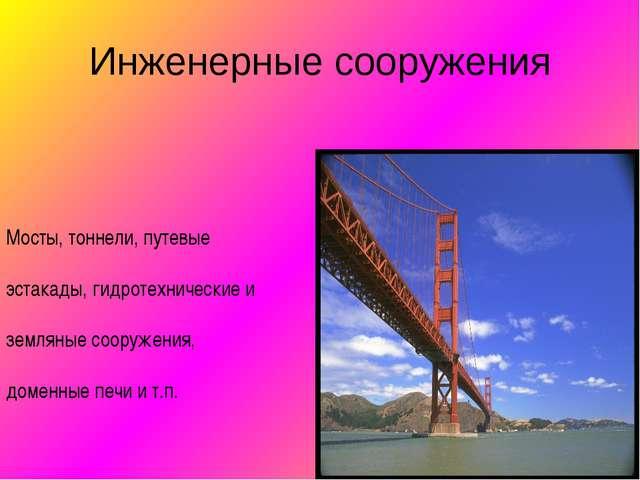 Инженерные сооружения Мосты, тоннели, путевые эстакады, гидротехнические и зе...