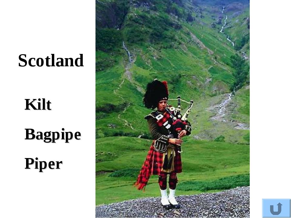 Scotland Kilt Bagpipe Piper