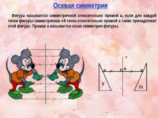 Фигура называется симметричной относительно прямой а, если для каждой точки