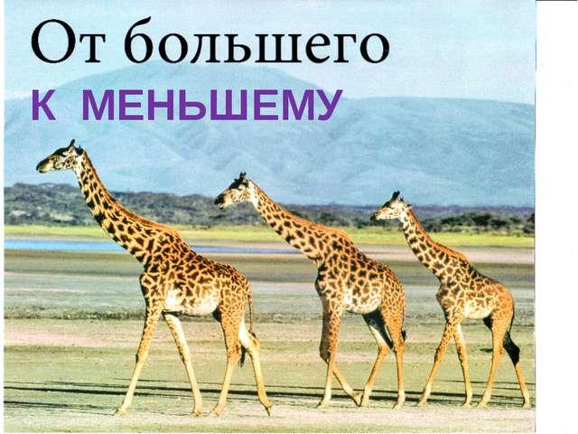 К МЕНЬШЕМУ