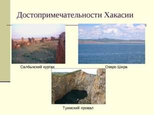 Достопримечательности Хакасии Салбыкский курган Озеро Шира Туимский провал