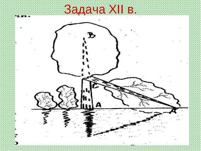 Задача XII в.