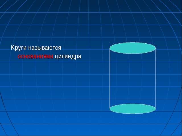 Круги называются основаниями цилиндра