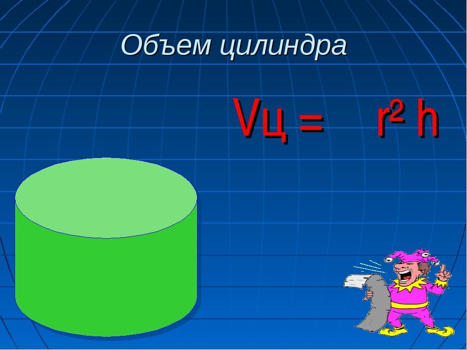 Объем цилиндра Vц = π r² h