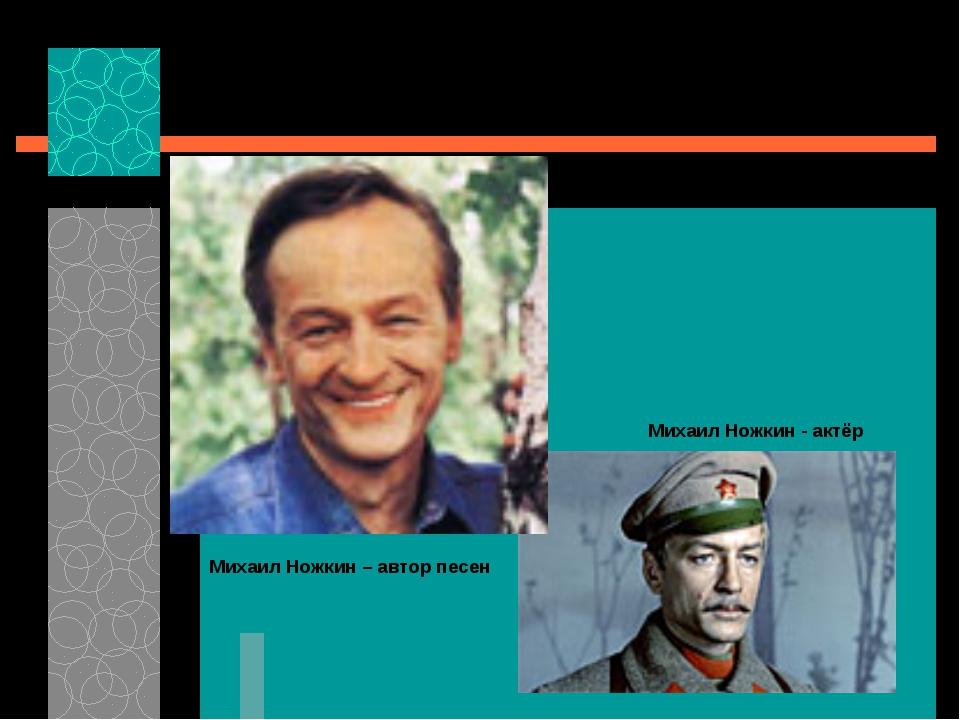 Автор песни «Последний бой» к кинофильму «Освобождение» Михаил Ножкин – автор...