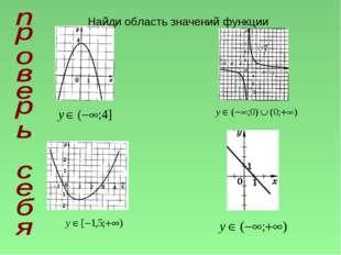 Найди область значений функции