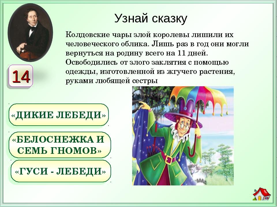Колдовские чары злой королевы лишили их человеческого облика. Лишь раз в год...