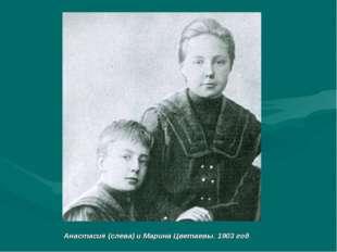 Анастасия (слева) и Марина Цветаевы. 1903 год.