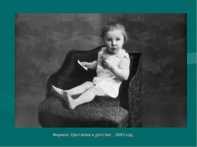 Марина Цветаева в детстве . 1893 год.