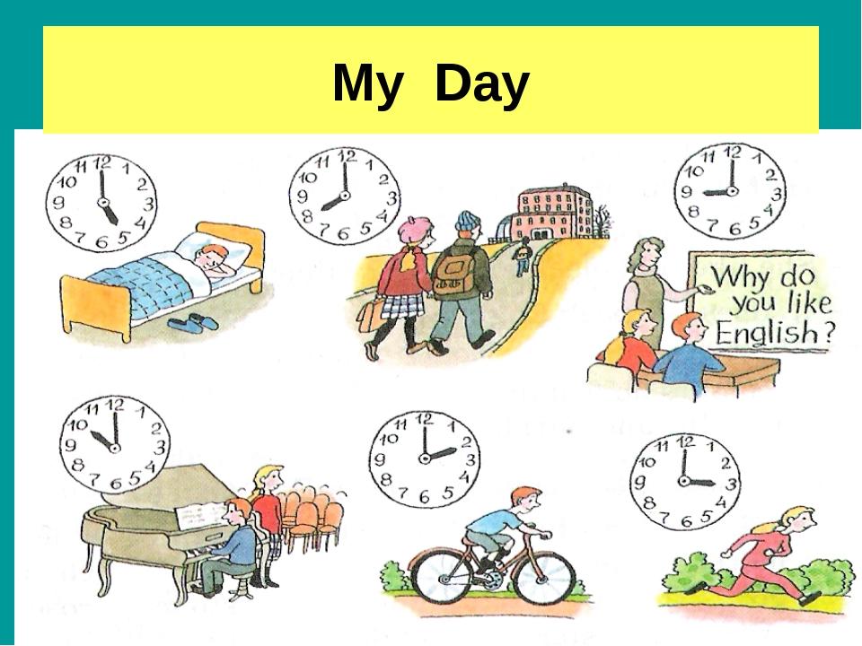 расписание дня на английском картинки пройдут