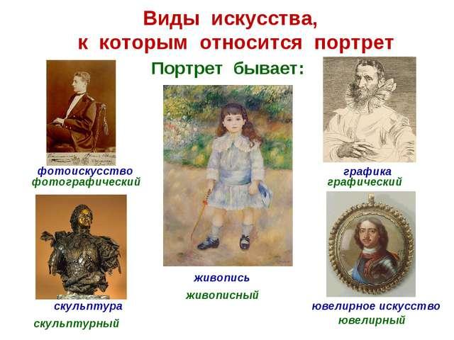 Виды искусства, к которым относится портрет графика ювелирное искусство скуль...