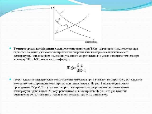 Температурный коэффициент удельного сопротивления ТК р- характеристика, поз...