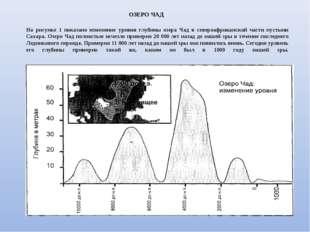 На рисунке 1 показано изменение уровня глубины озера Чад в североафриканской