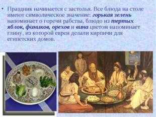 Праздник начинается с застолья. Все блюда на столе имеют символическое значен