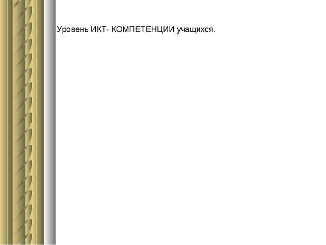 Уровень ИКТ- КОМПЕТЕНЦИИ учащихся.