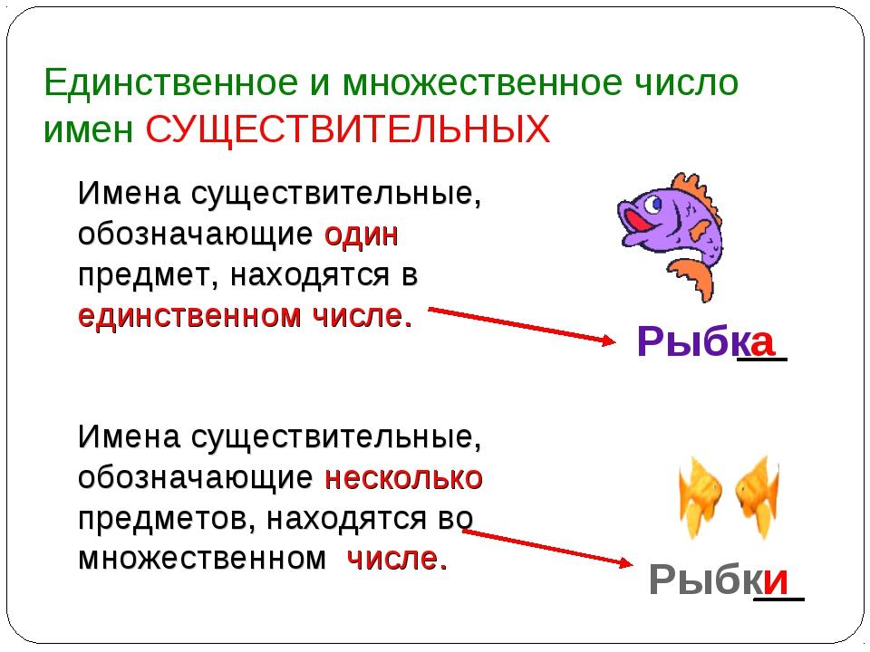 Числом знакомство на существительного русском с языке множественным