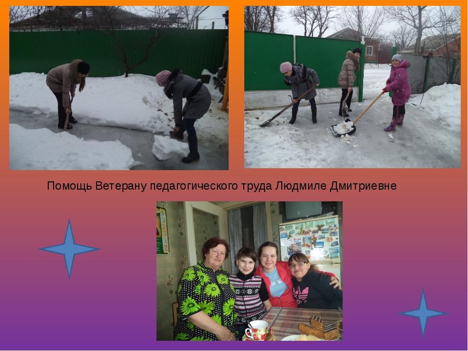 Помощь Ветерану педагогического труда Людмиле Дмитриевне