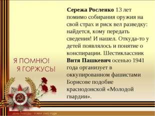 Сережа Росленко 13 лет помимо собирания оружия на свой страх и риск вел разв