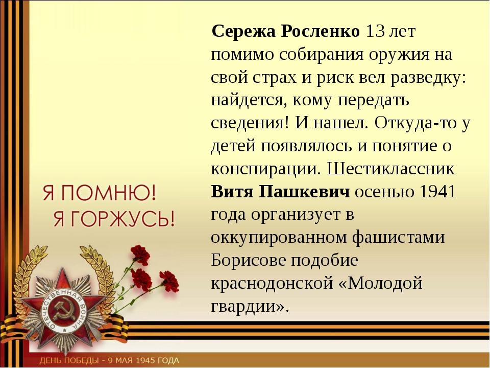 Сережа Росленко 13 лет помимо собирания оружия на свой страх и риск вел разв...