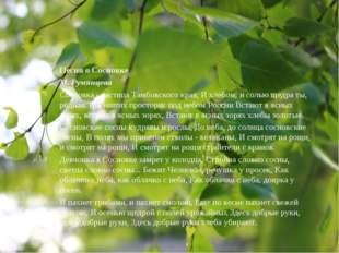 Песня о Сосновке М. Румянцева Сосновка- частица Тамбовского края, И хлебом,
