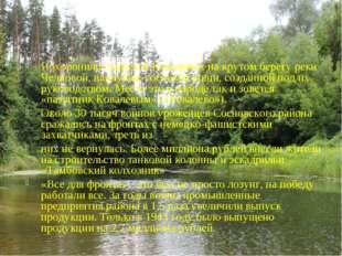 Похоронили супругов Ковалевыхна крутом берегу реки Челновой, наопушке соснов