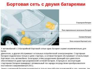 Бортовая сеть с двумя батареями У автомобилей с 2-батарейной бортовой сетью о