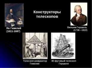 Ян Гевелий (1611-1687) Конструкторы телескопов 40-футовый телескоп Гершеля Те