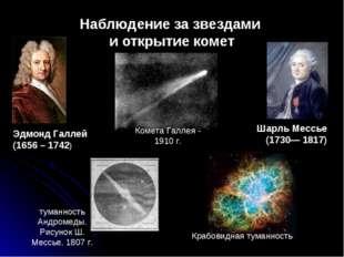 Наблюдение за звездами и открытие комет Шарль Мессье (1730— 1817) Эдмонд Галл