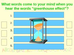 """What words come to your mind when you hear the words """"greenhouse effect""""? The"""
