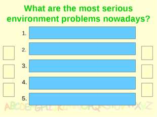 What are the most serious environment problems nowadays? Pollution in its man