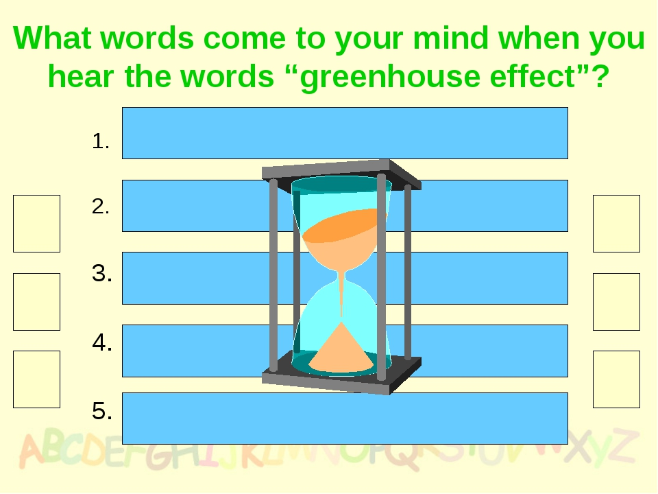 """What words come to your mind when you hear the words """"greenhouse effect""""? The..."""