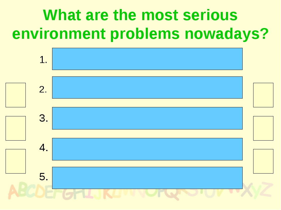 What are the most serious environment problems nowadays? Pollution in its man...