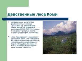 Девственные леса Коми Де́вственные леса́ Ко́ми расположены на севере Уральски