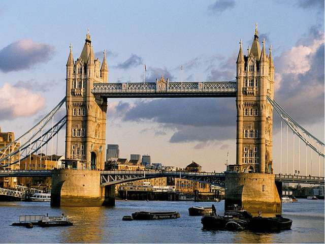 … is the most famous bridge in London. USE: Westminster Abbey, the Houses of...