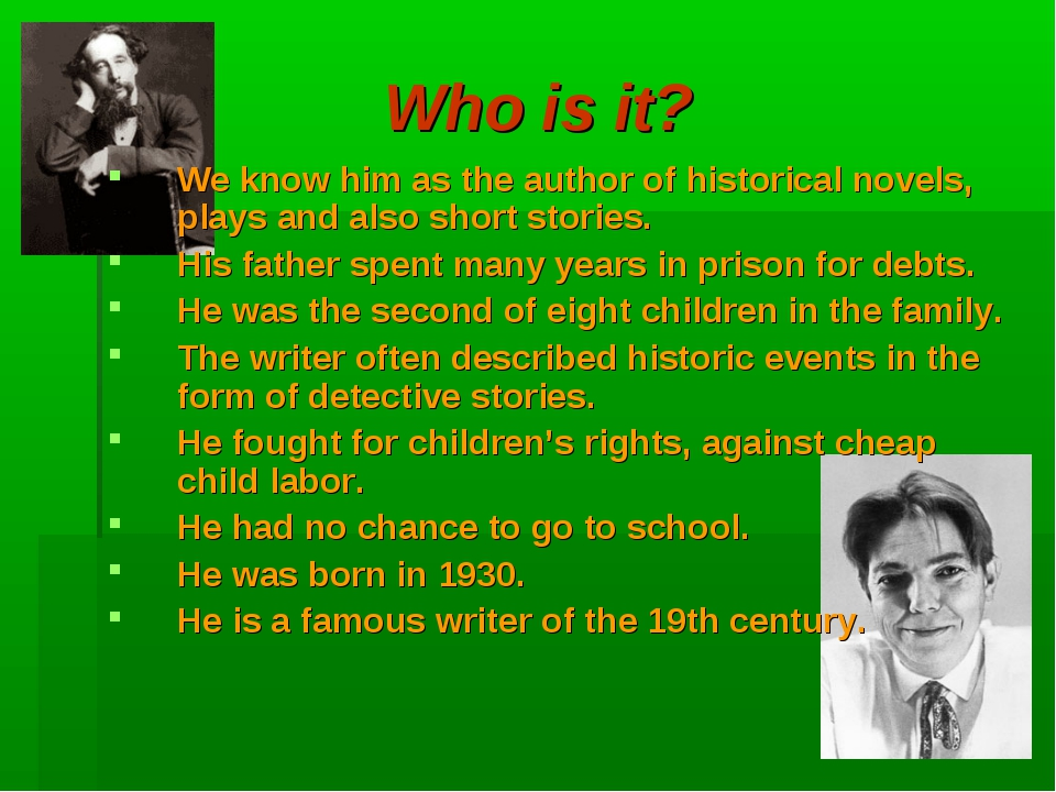 Who is it? We know him as the author of historical novels, plays and also sho...