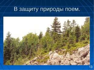В защиту природы поем. 13