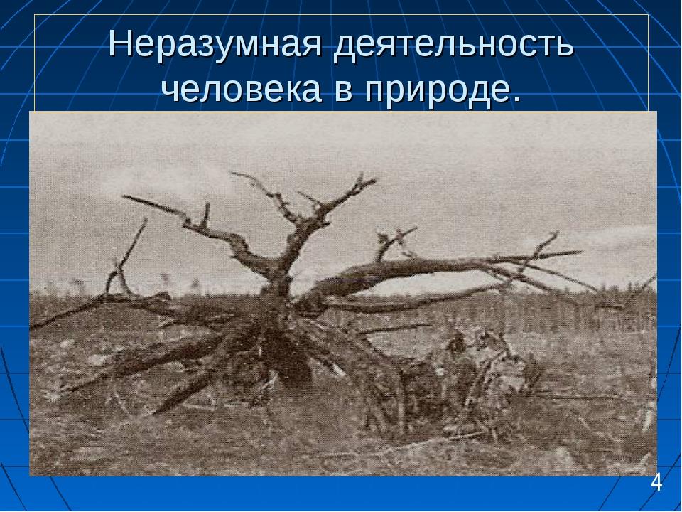 Неразумная деятельность человека в природе. 4