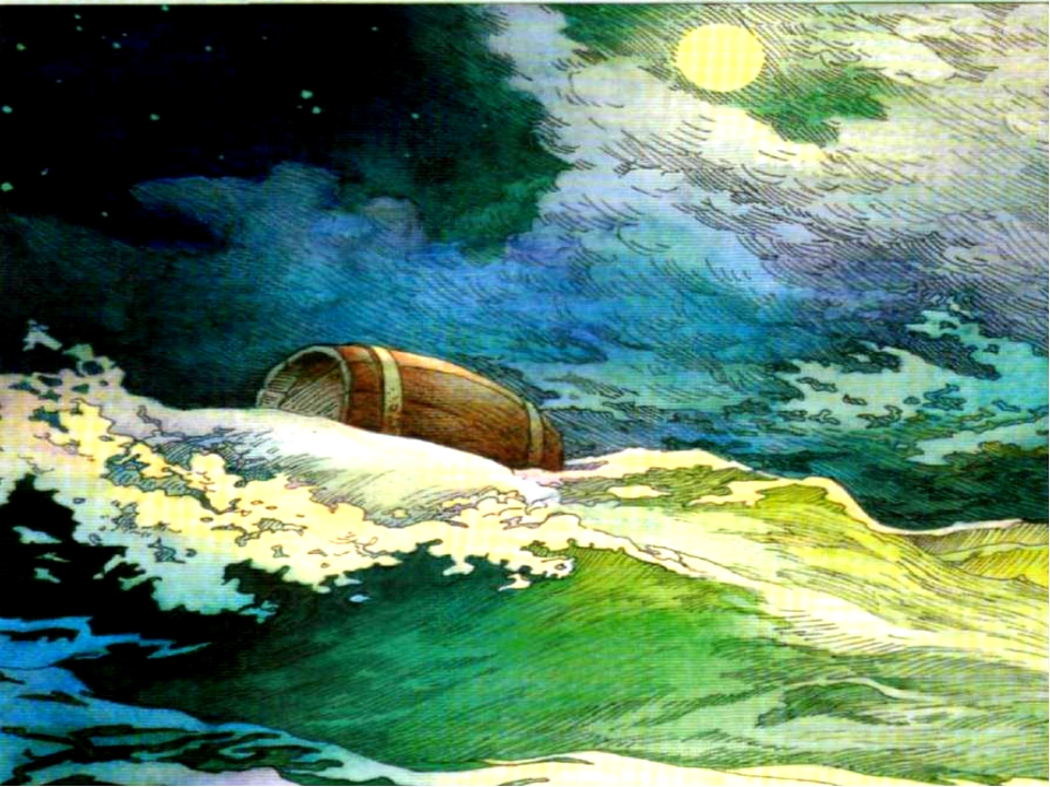 кого картинки к сказке о царе салтане бочка по морю плывет крутые