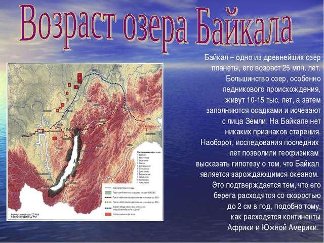Байкал – одно из древнейших озер планеты, его возраст 25 млн. лет. Большинств...
