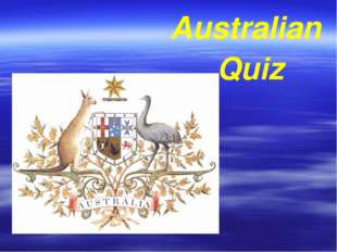 Australian Quiz