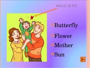 WHAT IS IT? Butterfly Flower Mother Sun