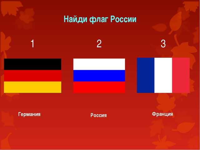 Найди флаг России 1 Германия 2 3 Россия Франция