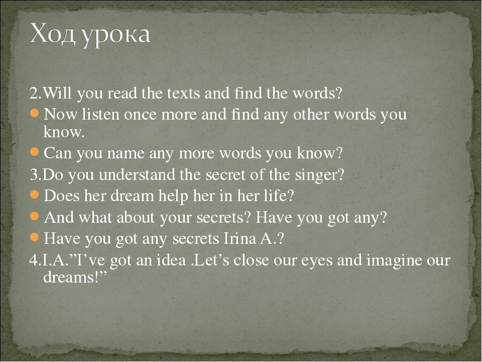2.Will you read the texts and find the words? Now listen once more and find a...